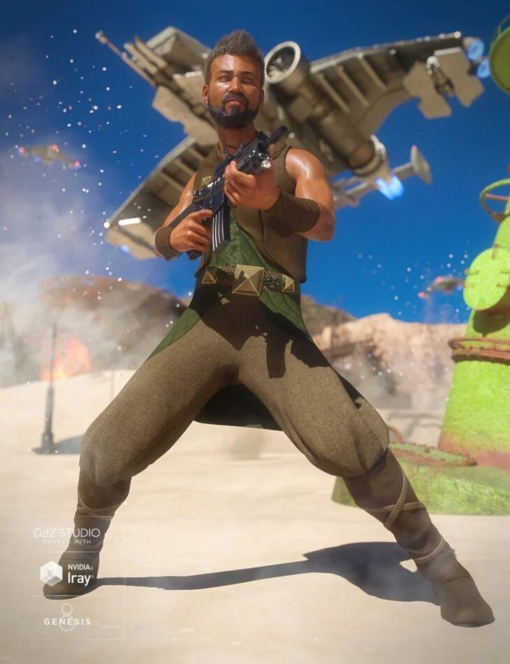 dForce Desert Raider Outfit for Genesis 8 Male(s)