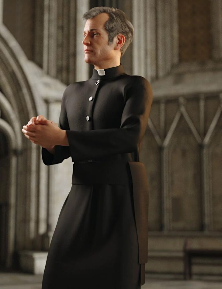 dForce Priest Outfit for Genesis 8 Male(s)