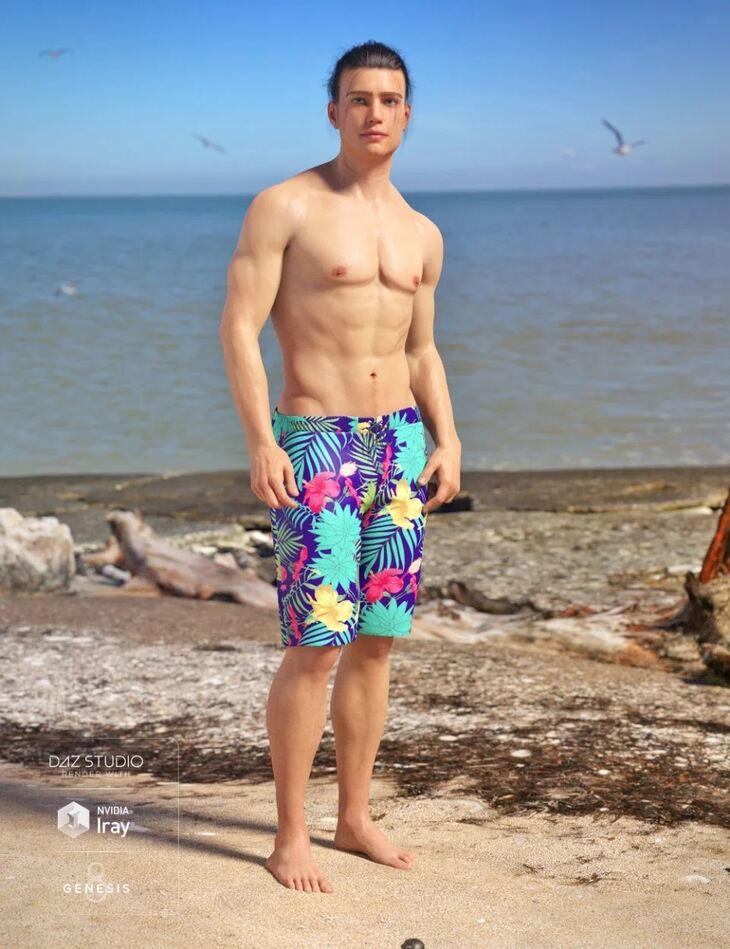 dForce Swim Shorts for Genesis 8 Male(s)