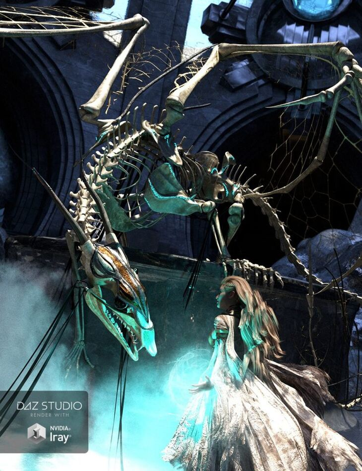 dForce Dragon Wraith Skeleton and Accessories