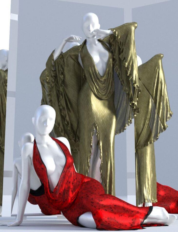 dForce Femme Fatale Dress for Genesis 3 and 8 Female(s)