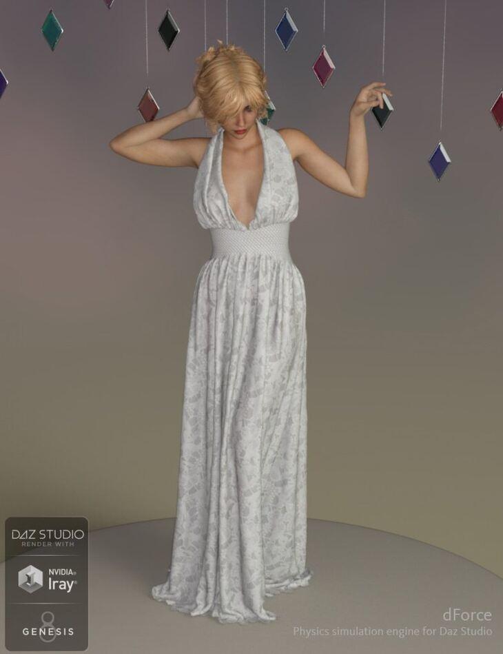 dForce Genevieve Gown for Genesis 8 Female(s)