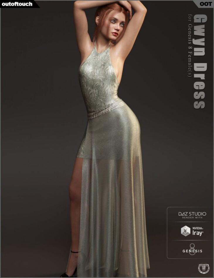 dForce Gwyn Dress for Genesis 8 Female(s)