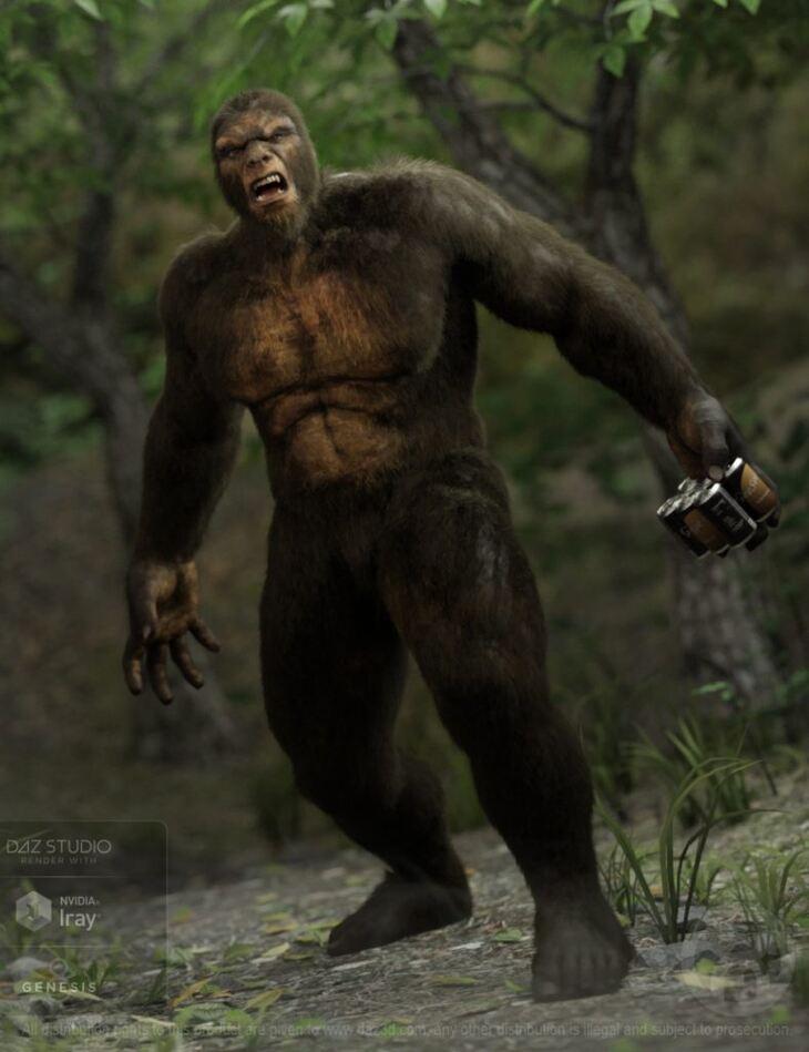dForce Sasquatch for Genesis 8 Male