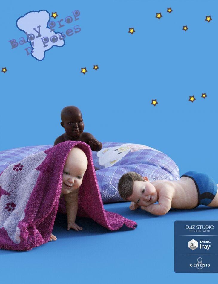 Baby Props N Poses for Genesis 8 - Render-State